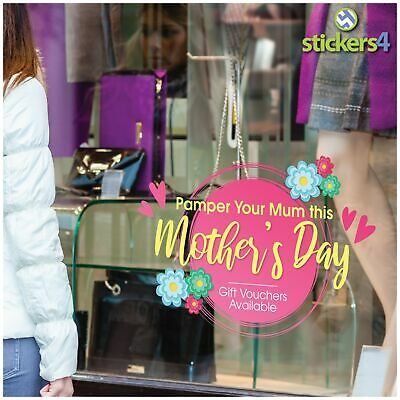Pamper Your Mum this Mother's Day! Shop Window Cling Sticker Mothers Day Decals