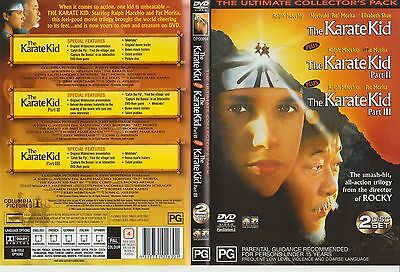 DVD * The Karate Kid Pts. 1 - 2 - 3 * 1984-6-9 Columbia Pictures Trilogy Edition