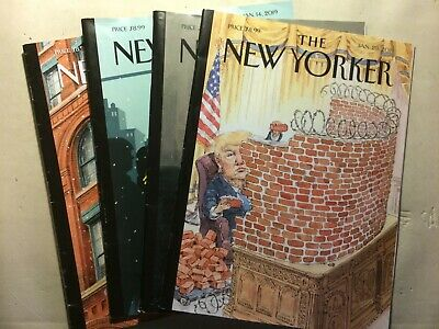 The New Yorker Magazine All January 2019: 7,14,21,28 (Lot of 4) -Free Shipping