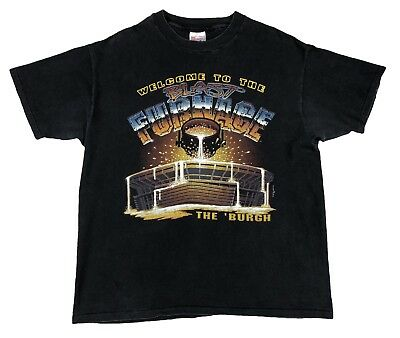 036925f88 Vintage Pittsburgh Steelers T Shirt Welcome To The Blast Furnace Mens XL  90s NFL