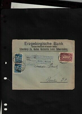 1923 Cover sent from Schneeberg to Berlin W 8