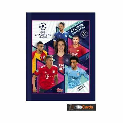 Box of 20 Packs UEFA Champions League Official Sticker Collection 2018/19 -Topps