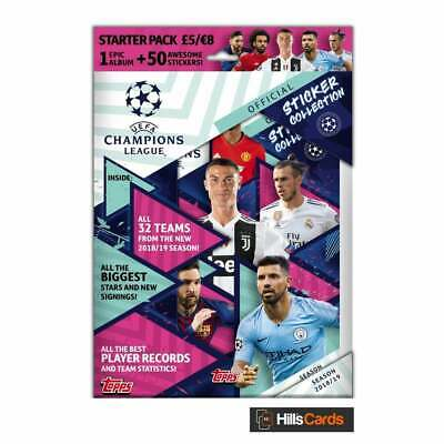 UEFA Champions League Official Sticker Collection 2018/19 Starter Pack - Topps