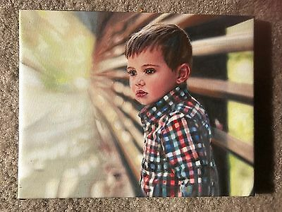 Custom Portrait Oil Painting Commission from Photo Art HandPainted Pet Baby Home