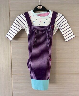 Adorable Little Joule Girls Outfit Age 4 Top And Pinafore