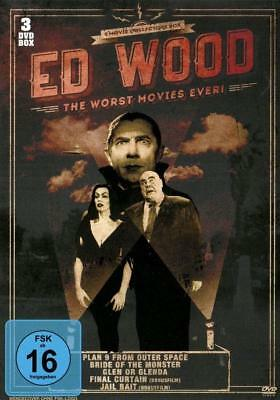 The Worst Movies Ever -Ed Wood-Glen Or Glenda;bride Of The Monster... 3 Dvd New