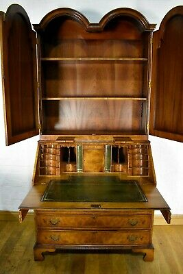 Top Quality Antique style Queen Anne domed top bureau bookcase
