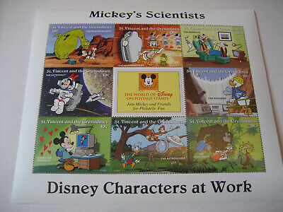 St.vincent & The Grenadines   1996  Disney Characters At Work-Mickey's Scientist