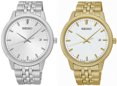 Seiko Men's Analog Quartz 100m Gold/Silver Tone Stainless Steel Watch