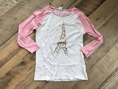 5ff4a015 CREWCUTS GIRLS J Crew Size 14 Color Changing Sequin Heart Applique ...