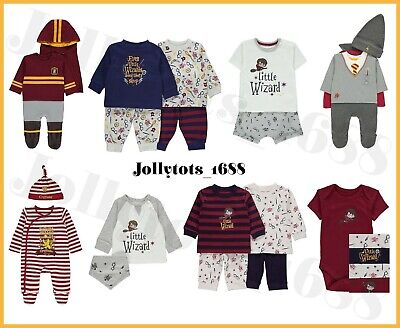 Baby Boys Harry Potter Clothes Wizard Character Outfits Sleepsuits Bodysuits PJs