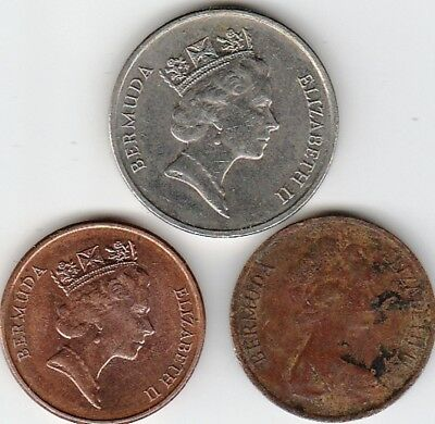 3 different world coins from BERMUDA