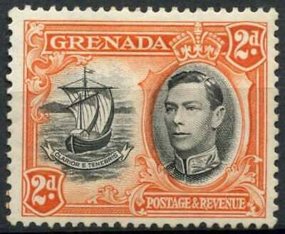 Grenada 1938-50 SG#156a 2d Black & Orange KGVI P12.5x13.5 MH #D85330