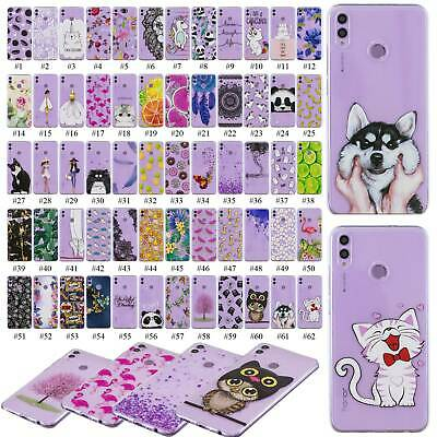 Rubber Painted Clear Pattern Phone Back Cover For Huawei Honor 10 Lite Honor 8X