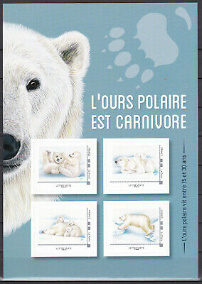 """FRANCE 2019 Collector Adhesive """"Ours polaire / polar bear """" MNH** Luxe"""