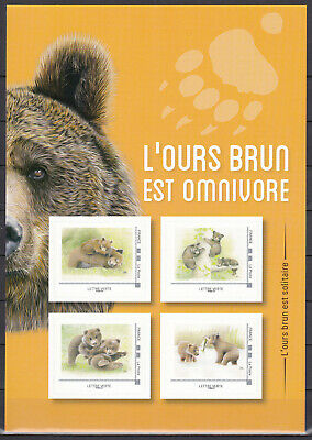 """FRANCE 2019 Collector Adhesive """"Ours brun / brown bear """" MNH** Luxe"""