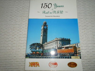 150 YEARS OF RAIL IN NSW SOUVENIR BOOKLET, SC VGC. NSW Rail Transport Museum.