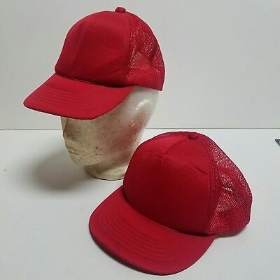 Two Red Youth Trucker Ball Cap Mesh Kids Boy s One Size Fits All- Snapbacks  Hat b5cced7020ed