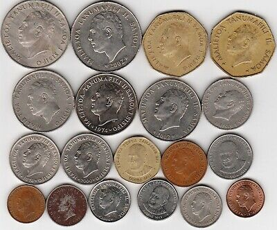 11 different world coins from SAMOA