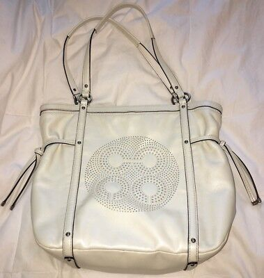 421bc00dce49 COACH PEARL WHITE Leather ZOE Leather Convertible Cross-Body Satchel ...