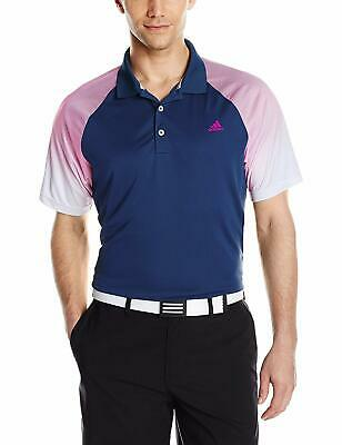 Adidas Golf Men's Climacool Gradient Stripe Polo, St Dark Slate