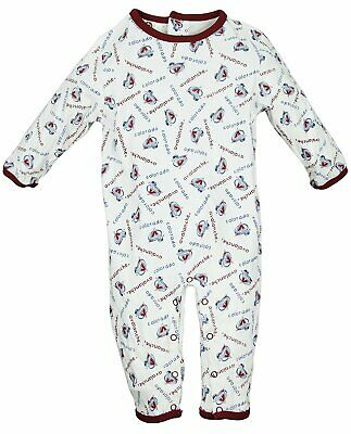 NHL Hockey Baby Boys Infant Colorado Avalanche All-Over Printed Coverall b02808caf