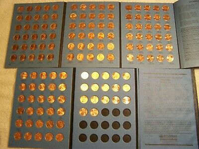 1959-2019 UNCIRCULATED LINCOLN CENT COLLECTION 139 Coins in NEW WHITMAN FOLDERS