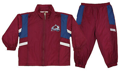 Colorado Avalanche NHL Boys Girls Toddler Wind Suit Set Jacket & Pants, Maroon