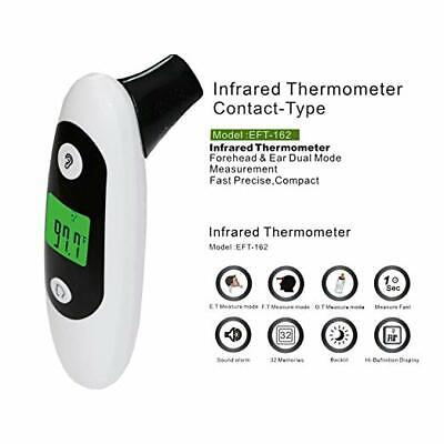 Digital Forehead and Ear Thermometer for Baby (1 Pack)