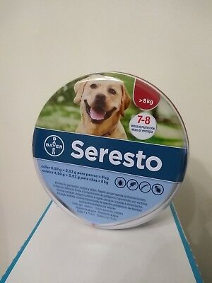Seresto collar fleas and ticks Treatment  large dog over 18 lbs /27,5 inch