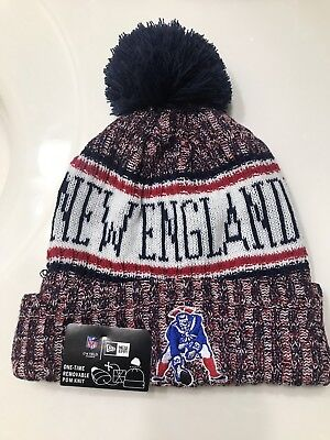 6a35f64bc5f8f0 New England Patriots Knit Hat On Field 2019 Sideline Beanie Stocking Cap
