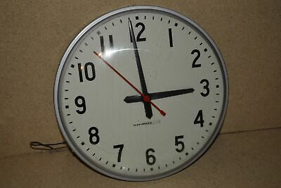 "^^ National Time Clock 12"" Vintage Dial Hard Wired School/industrial Clock (3C)"