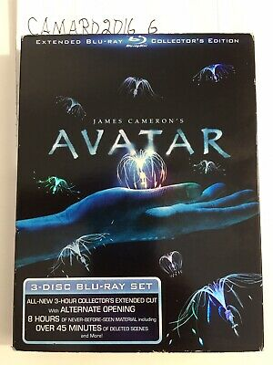 Avatar (Blu-ray Disc, 2010, 3-Disc Set, Extended Collectors Edition)MINT