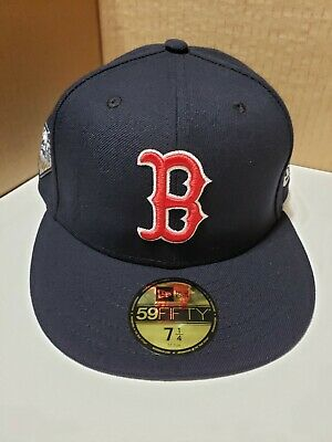 hot sales 3779e c11f4 New Era Boston Red Sox 2018 MLB World Series Fitted Hat Patch 59FIFTY Cap
