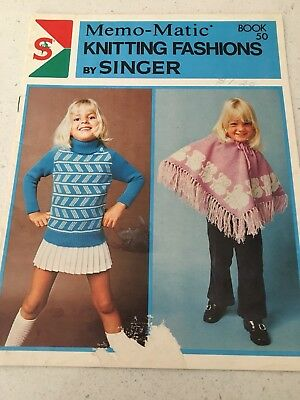 SINGER MEMO-MATIC KNITTING FASHIONS Book No.57 - PATTERNS FOR BABY - VGC