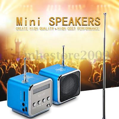 3.5mm Portable Stereo Speaker Music Player FM Radio PC MP3 MP4 Micro SD TF USB !