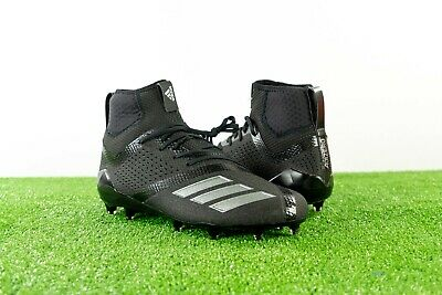 797a13f29b52 Adidas Adizero 5-Star 7.0 Mid Football Cleats Triple Black Out SZ 10 11