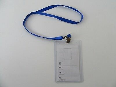 100Sets B2 Certificate Label Holder Card Cover w/Lanyard