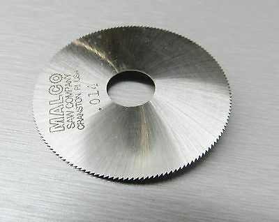 "Malco Saw Blade Jewelers Slotting Saws 2"" High Speed Circular Saw Blades 0.014"""