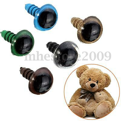 40/100pcs 10mm Plastic Safety Eyes For Teddy Bear Doll Animal Puppet Craft !