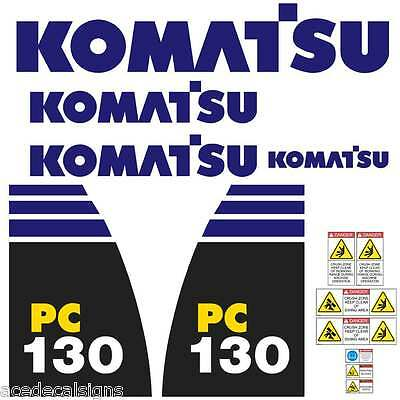 Komatsu PC130-8 PC160-8 PC200-8 PC220-8 New Repro Excavator decals Stickers Kit