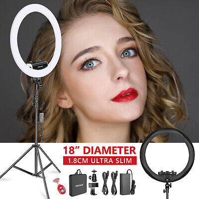 Neewer Ring Light Kit [1,8cm Ultra Fin] Anneau Lumineux 48cm pour Photo Studio