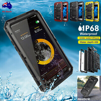 F iPhone 7 8 6s Plus XR XS Waterproof Shockproof Aluminum Metal Tough Case Cover