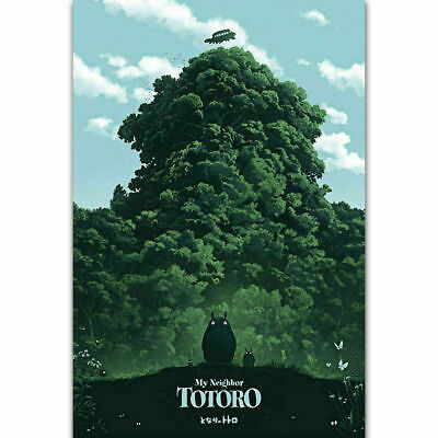 ZT449 Custom My Neighbor Totoro Studio Ghibli Japan Anime Art Poster Decoration