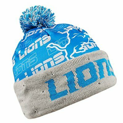 43cc9c202c2 Forever Collectibles NFL Adult s Detroit Lions Light Up Printed Beanie