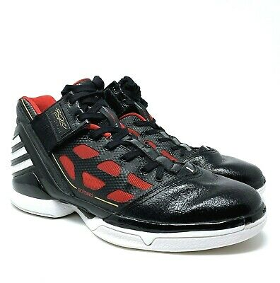 2c9fbcee55a7 ADIDAS Adizero Men s Sz 13 Black Red DERRICK ROSE 2 G22887 Basketball Shoes