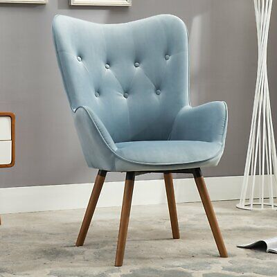 Cool Modern Mid Century Accent Side Wingback Chair Velvet Fabric Bralicious Painted Fabric Chair Ideas Braliciousco