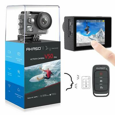 AKASO V50 Elite Native 4K/60fps 20MP Ultra HD 4K Action Caméra WiFi Touch Screen