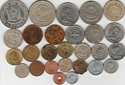 27 different world coins from PHILIPPINES