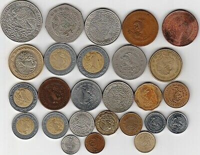26 different world coins from MEXICO